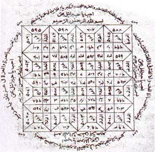 A circular Arabic talisman for magic