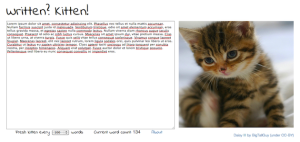 Screen Shot from Written? Kitten!